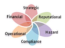Strategic, Requtational, Hazard, Compliance, Operational, Financial
