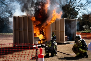 Fire Safety Demonstration Promotes Awareness